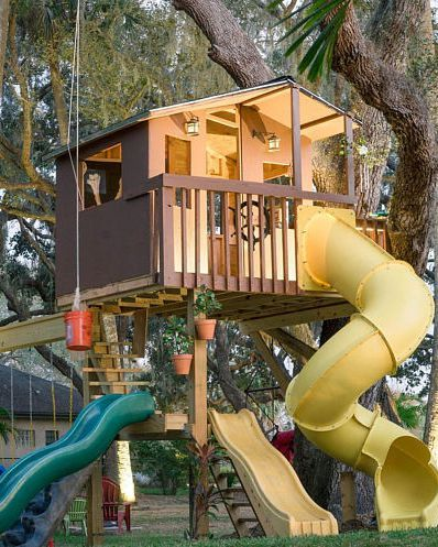 Treehouse With Porch Tree House Diy Tree House Kids Tree House