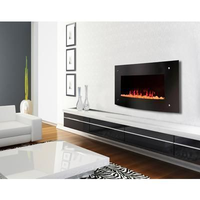 Paramount Sevilla Wallmount Curved Electric Fireplace 42 Inch Ef Wm402 Home Depot Canada Wall Mounted Tv Diy Tv Wall Mount Livingroom Layout