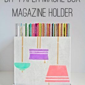 Diy Wooden Magazine Holder In 2020 Diy Magazine Holder Diy Magazine Magazine Holders