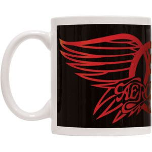 Aerosmith Wings Logo Album Cover White Boxed Coffee Gift Mug Cup Fan Official