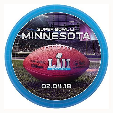 Superbowl Lii 7in Paper Plates You Can Get More Details By Clicking On The Image It Is Amazon Affiliate Link Supe Super Bowl Superbowl Party Super Bowl 52