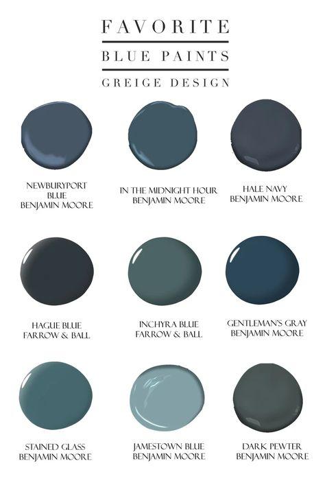 Green Paint Colors, Bedroom Paint Colors, Paint Colors For Home, House Colors, Wall Colors, Blue House Exterior Colors, Office Paint Colors, Stain Colors, Blue Kitchen Cabinets