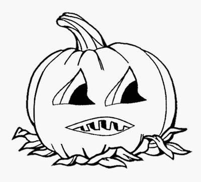 Free Childrens Coloring Book Cartoon Cute Pumpkin Halloween