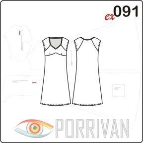 19989863215 Выкройка платья из трикотажа или любой другой эластичной ткани  предназначена для шитья летней модели. Шитьё