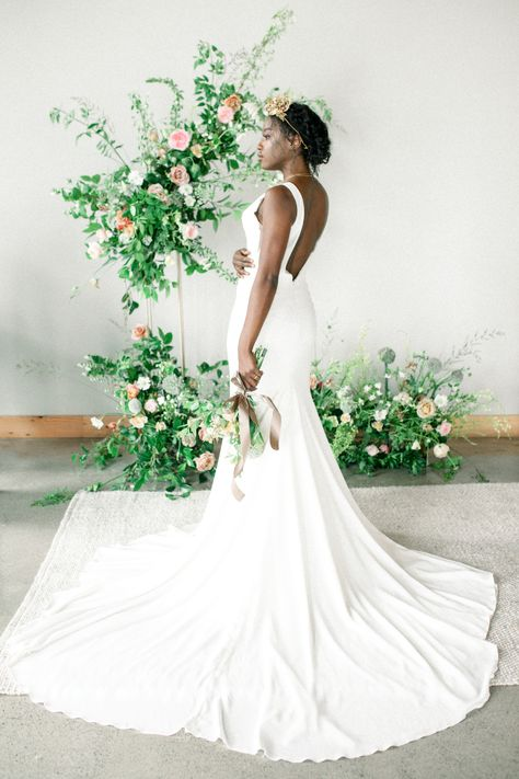 From the editorial An Empowering Editorial at Easton Broad Inspired by Butterflies. Shantel from @shantillygatherings and Rithy from @rtfaithphotography are sharing their creative process behind this butterfly inspired shoot, including their vision behind the images, the meaning behind the details, and even offering advice for those in the planning stages. Styling  Photography: @rtfaithphotography #bride #brideinspiration #romanticbride #weddingdress #bridalfashion