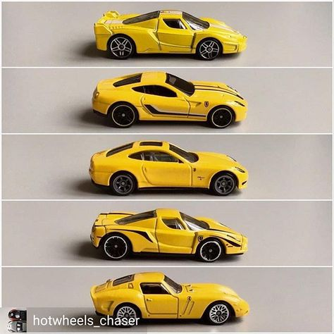 Reposted From Hotwheels Chaser 1 2 3 4 5which Yellow Ferrari