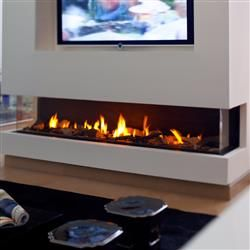 Ortal Three Side Gas Fireplace Collection Direct Vent Gas