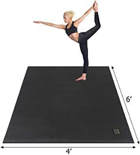 Balancefrom Goyoga All Purpose 1 2 Inch Extra Thick High Density Anti Tear Exercise Yoga Mat With Ca In 2020 Large Yoga Mat Home Gym Mat Exercises