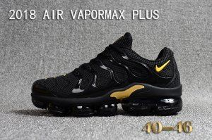 huge discount 81fdc aa6b2 Mens Nike Air Vapormax Plus KPU TN + 2018 Black Gold Casual ...