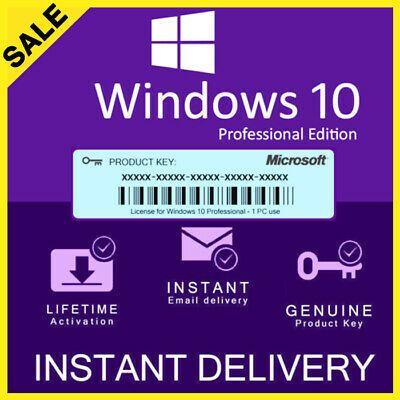Ebay Advertisement Windows 10 Pro Key Professional 32 64bit Genuine License Key Activation In 2020 Microsoft Windows Windows 10 Microsoft