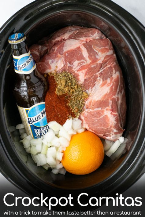Easy Crockpot Pork Carnitas Recipe | The Schmidty Wife