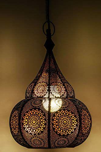 Lampe Suspension Luminaire marocaine Ilham 40cm noir E27