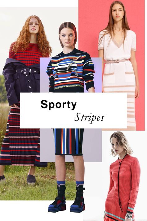 Easy-to-wear knits get amped up, thanks to the addition of athletic-looking graphic stripes.
