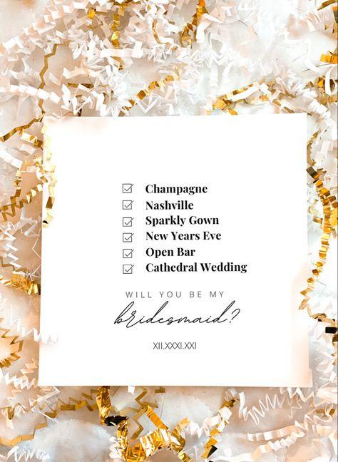 DIY Bridesmaid Proposal Card #bridetobe #bride #bridesmaids #bridesmaidsproposal #bridesmaidgift #bridesmaid #maidofhonor #weddingpartygifts #bridalpartygifts
