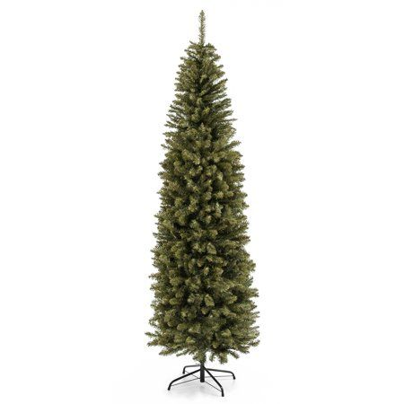 Best Choice Products 7 5ft Premium Hinged Fir Pencil Artificial Christmas Tree W Foldable Stand Easy Assembly Walmart Com Pencil Christmas Tree Cool Christmas Trees Pencil Trees