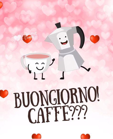 Una tazzina di caffè viene amorevolmente riempita da una moka, in questo tenerissimo video-messaggio del buongiorno.
