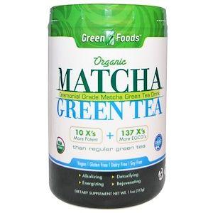 Green Foods 儀式用抹茶エネルギーブレンド 11 Oz 312 G 緑茶 自然 食品 ハーブ