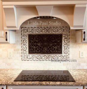 Kitchen Backsplash Ideas Pictures And Installations Metallic Backsplash Stone Mosaic Backsplash Metal Tile Backsplash