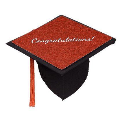 Graduation Cap University Hat Red Icon Symbol Of University College Education And Academic Job Master Degree Mortar With Tassel Isolated Illustra Illu