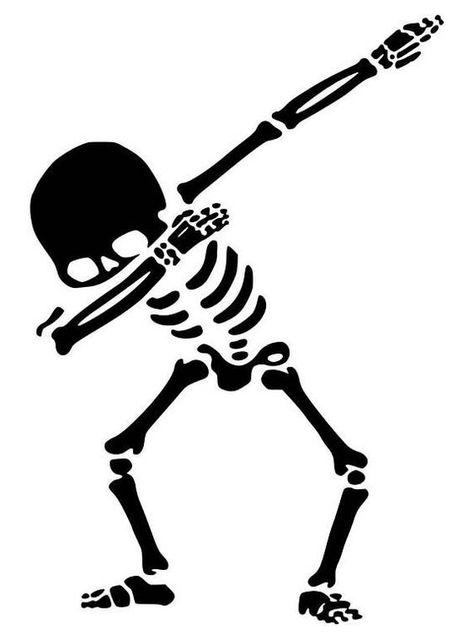 SALE! Skeleton svg, skeleton halloween, skeleton dancing, skeleton dabbing, skeleton svg cut file, skeleton stroke, skeleton silhouette svg. by SVGDesignsCenter on Etsy