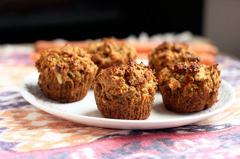 Gluten-Free + Vegan Carrot Cake Muffins by Tasty Yummies, via Flickr...i've made these and I give them 10 stars out of 5!
