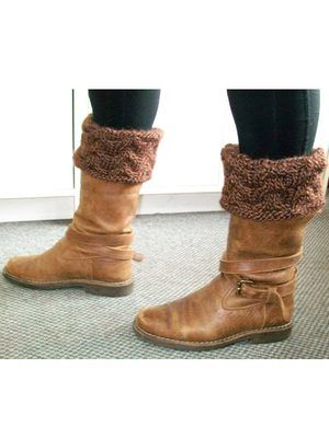 Boot toppers using Mirasol Sulka yarn Leaflets by Mirasol | Diamond Yarn