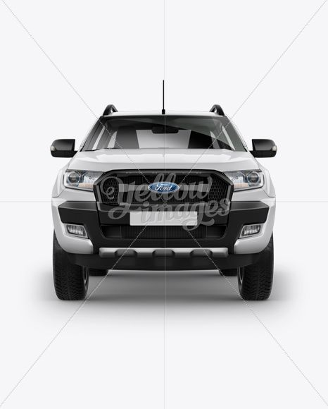Pickup Truck Mockup Front View In Vehicle Mockups On Yellow Images Object Mockups Psd Mockup Template Mockup Free Psd Mockup Downloads