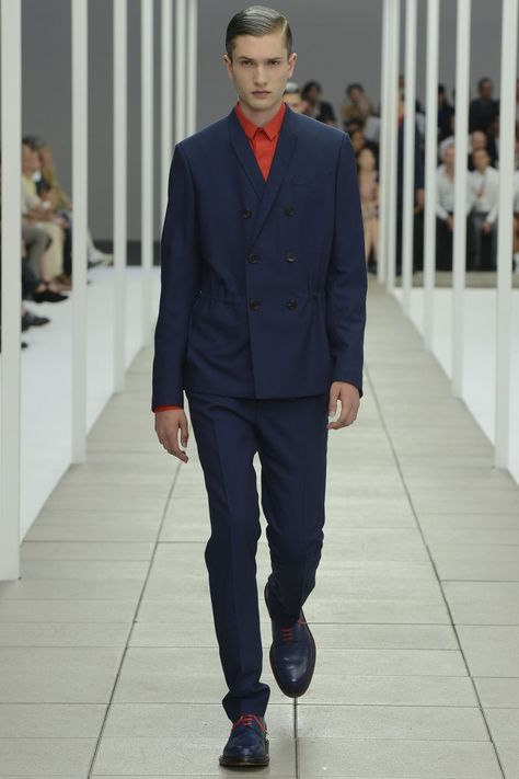 Suited Armour–Navy was the color of choice this season as Dior Homme creative director Kris Van Assche kept things relatively simple for his spring/summer 2013 outing. Featuring tailored fitted shapes, the proposal was simple