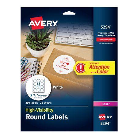 Avery Easy Peel TrueBlock Print To The Edge InkjetLaser