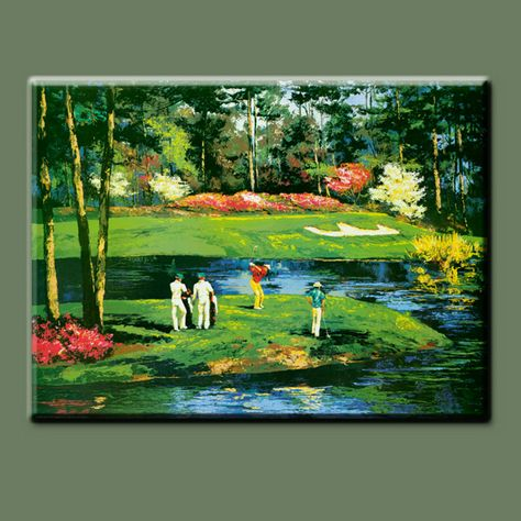 Main Moderne Murale Décorative Pop Art Peinture Golf Sport