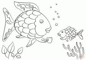 Rainbow Fish Gives A Precious Scale To Small Fish Coloring Page Coloring Fish Giv Rainbow Fish Coloring Page Rainbow Fish Template Fish Coloring Page