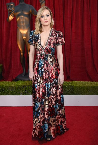 Actor Brie Larson attends the 24th Annual Screen Actors Guild Awards.