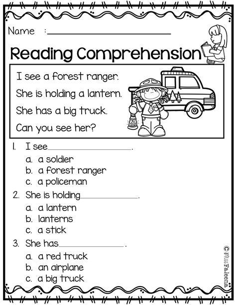 Free Reading Comprehension Is Suitable For Kindergarten Students Or Be Reading Comprehension Kindergarten Kindergarten Reading Worksheets Reading Comprehension 1st grade reading worksheets printable
