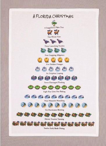 12 Days Of A Florida Christmas Kitchen Towel