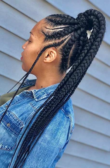 25 Braid Hairstyles With Weave That Will Turn Heads Stayglam Hair Styles Braids With Weave Weave Hairstyles Braided