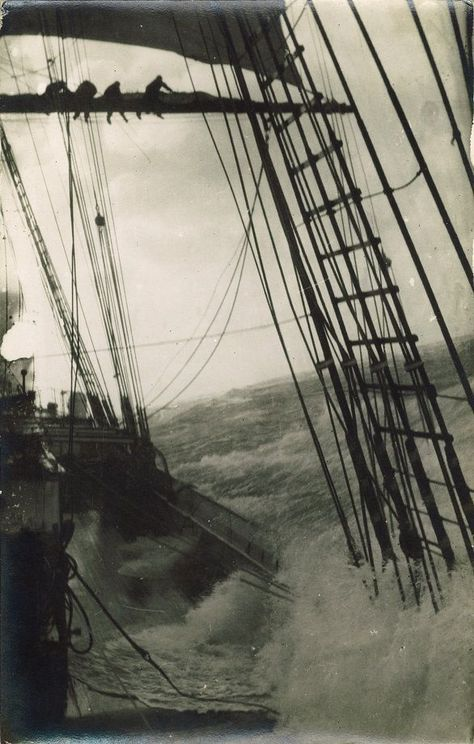 Ships Sailing Ship In The Storm. Would love to frame somewhere in the bedroomSailing Ship In The Storm. Would love to frame somewhere in the bedroom Yacht Design, Animals Tattoo, Old Sailing Ships, Wooden Ship, Sail Away, Wooden Boats, Model Ships, Tall Ships, Great Pictures