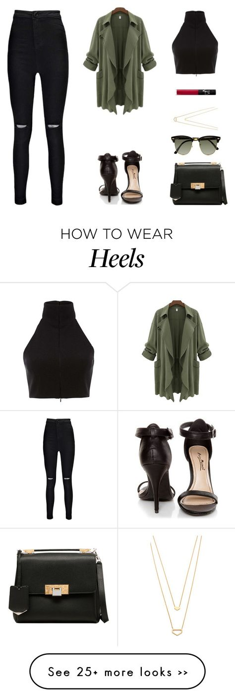 """Shop the look with our """"Olive Jacket"""" and """"Off the Rip"""" black denim from…"""
