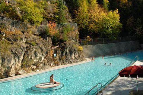 Top 10 thermal springs: Radium Hot Springs. Photo by Canadian Rockies Hot Springs