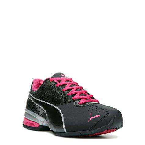 55d02c0022fb37 Puma Women s Tazon 6 Softfoam Wide Running Shoes (Black Silver Pink) - 7.0 W