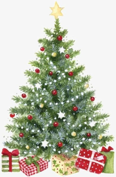 Watercolor Christmas Tree Png Christmas Christmas Clipart Christmas Clipart Creativ Watercolor Christmas Tree Christmas Tree Painting Christmas Watercolor