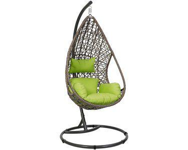 Hangesessel Pinamar Braun Grun Saucer Chairs Hanging Chair Decor