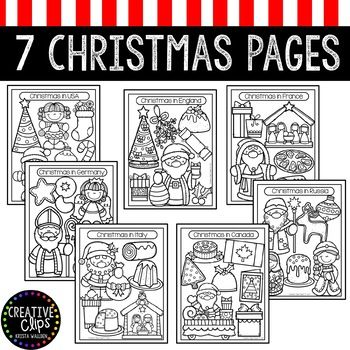 43+ Christmas around the world coloring page free download