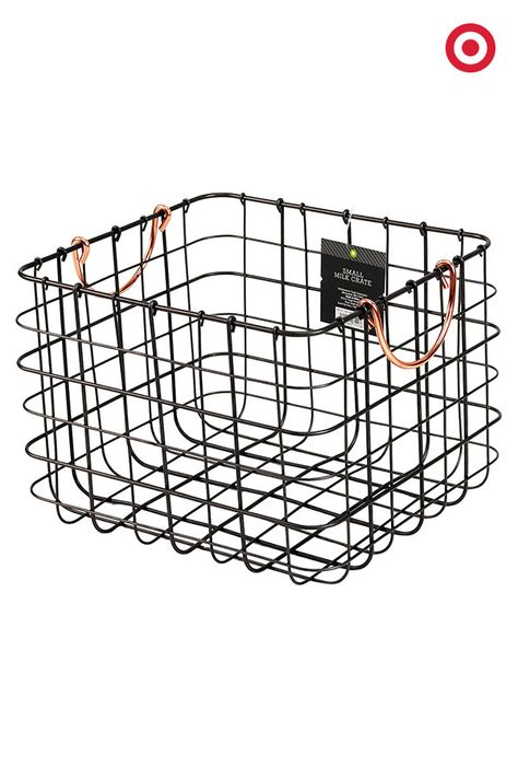 Need to get organized? Wire milk crates are a perfect solution. The open design allows easy access, and the minimal style fits in almost any area of home—playroom, mudroom, bedroom, bathroom, media room and more.