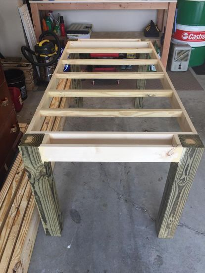 Pipe for legs and pallet wood for the top perfect outdoor table pipe for legs and pallet wood for the top perfect outdoor table spray a clear coat onto the pipes to prevent rust old pallets pinterest outdoor watchthetrailerfo
