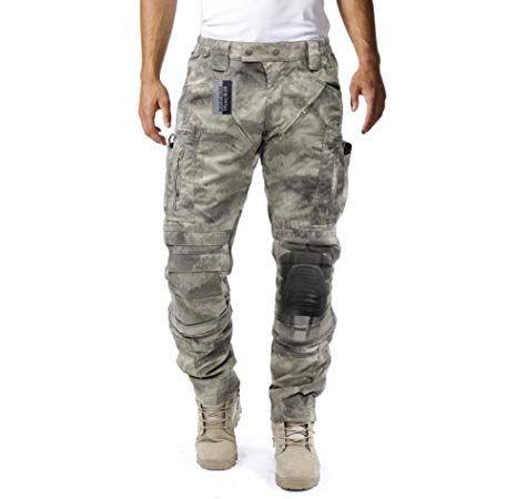 Survival Tactical Gear Pantalones Tacticos Para Hombre Con Sistema De Proteccion De Rodilla Y Sistema De Circulacion De Aire ̞'ì—…ë³µ