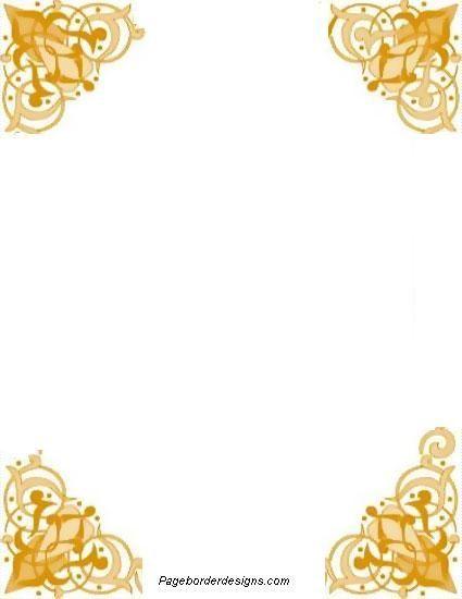 Image Result For Gold Corner Border
