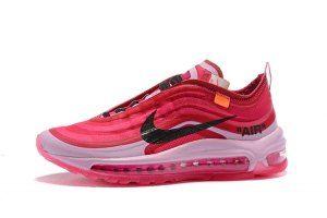 Womens Off White x Nike Air Max 97 OG V2 Tulip Pink Racer