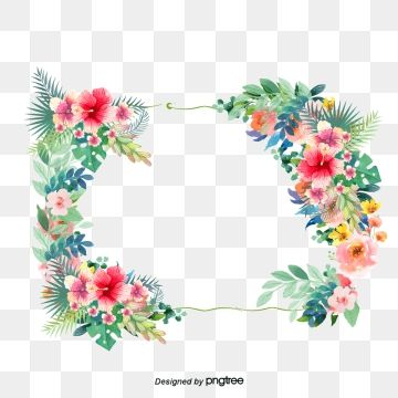 Small Fresh Cute Borders Vector Png Small Fresh Lovely Flowers Png Transparent Clipart Image And Psd File For Free Download Simple Flower Design Floral Border Design Cute Borders