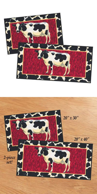 Other Rugs And Carpets 8409 Cow 2 Pc Kitchen Rug Set By Collections Etc Buy It Now Only 24 99 On Ebay Other Carpets Ki Rug Sets Rugs Collections Etc