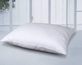 Cotton Lux Feather Core And Cotton Filled Soft Bed Pillow White With Images Bed Pillows Firm Pillows Pillows
